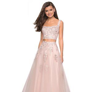 La Femme Prom Two Piece Prom Dress